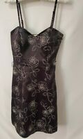White House Black Market Womens Floral Strapless Dress Size 4 Satin Lined W/Zip