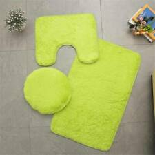 Bathroom Rug Bath Mat Set Pedestal Toilet Lid Cover Non Slip Absorbent Curshion