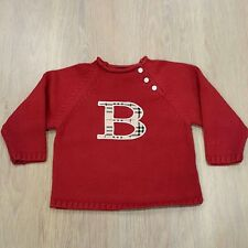 Pull tricot boutons BURBERRY rouge taille 18 mois état impeccable