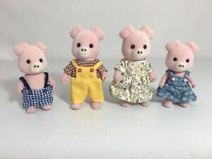 Calico critters/sylvanian families Pigglywink Pig Family Of 4