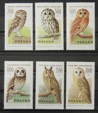 - Polen Poland 1990 Mi. Nr. 3294-3299 ** postfrisch MNH Vögel birds Eulen owls