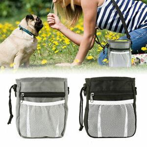 Small Dog Training Treat Pouch Bag Pet Waist Bum Bags Belt Snack Treats Walking