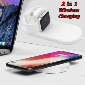 For Apple iWatch 2/3 iPhone X 8Plus 2 in 1 Wireless Charger Quick Charging Pad