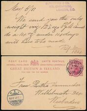 Gb Stationery Victoria Standing 6th May 1901 to Wiesbaden Germany Benetfink + Co
