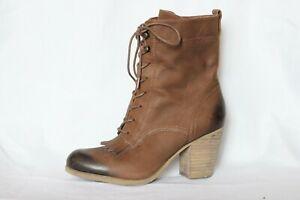 Ralph Lauren Denim & Supply Mesa Brown Lace Up Boots Women's 7 M