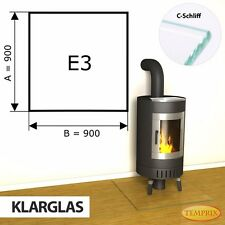 Temprix Funkenschutz & Glasbodenplatte   Klarglas Bodenplatte für Kamin & Ofen