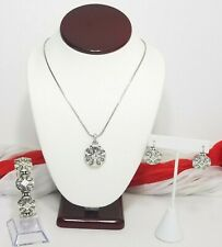 Brighton Highclere Necklace Bracelet Earrings Set Silver And Clear Crystal