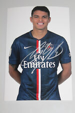 Autographe de Thiago Silva (PSG) sur photo 10*15 cm