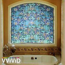 "VViViD 36"" x 60"" Flower Tile Vinyl Window Decal"