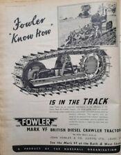 FOWLER TRACTOR  advert 1950