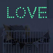 407Pcs Dot Glow In The Dark Wall Sticker Luminous Kid Nursery Room DIY Decal
