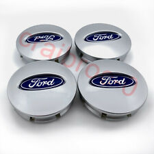 Silver Blue Wheel Center Hub Caps Emblem Cover for Ford Flex Edge Explorer 4Pcs