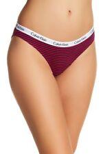 Calvin Klein Women's Size Medium Pink Black Stripe 2 Pack Carousel Thong Panty