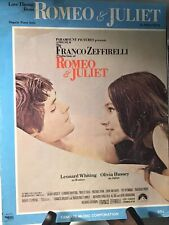 Vintage 1968 Romeo And Juliet Piano Sheet Music Paramount Pictures Love Theme