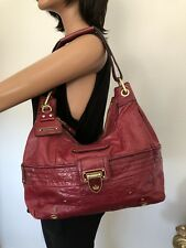 Juicy Couture Leather Bag Burgundy Designer Fashion