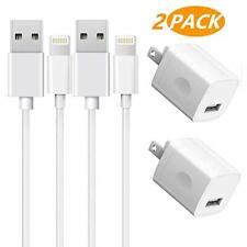 iPhone Charger 2-Pack Charging Cable and USB Wall Charger Power Adapter Plug
