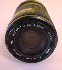 Vivitar 70-210mm 1:4.5-5.6 Macro Focusing Zoom Lens 52mm Macro 1:4x Used