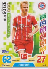 Match Attax A15 - Felix Götze - FC Bayern München - Saison 17/18
