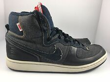 NIKE Terminator HI Premium 'Denim' Men US 10 Navy + Obsidian Black Shoes