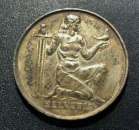 Switzerland 1936B 5 Franc Commemorative Silver Coin:  Confederation Armament