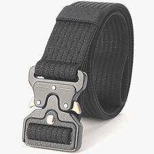 Cinturón Para Hombre Negro Resistente Militar Ejército Resistente Hebilla fuerte equipo de combate de Reino Unido