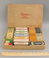 Rare! Antique Apothecary Store Salesman Sample, 15 Vaseline Products & Box