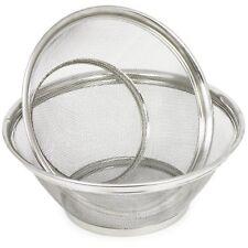 2er Set Abtropfsieb rund aus Edelstahl zum Waschen und Abtropfen Ø 25 cm + 28 cm