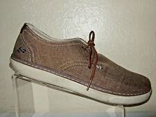 74482c15ab15 New ListingSKECHERS Relaxed Fit Brown Canvas Shoes W Memory Foam Men s Size  12
