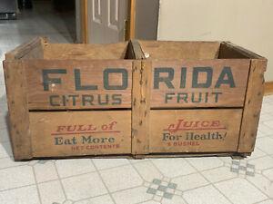 VINTAGE FRUIT CRATE FLORIDA CITRUS FRUIT WOODEM FRUIT CRATE OLD ORIGINAL CRATE