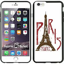Paris France Eifel Tower White For Iphone 6 Plus 5.5 Inch Case Cover