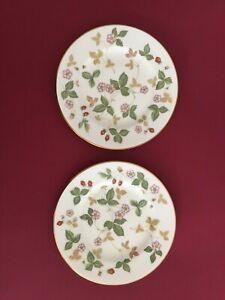 Wedgwood  'Wild Strawberry' Bone China Pair of Tea/Cake/Side Plates as new