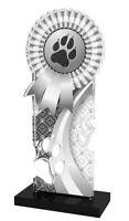 Pack de 10 avec rubans 3 tailles Rosette Dog Paw acrylique médaille 50 mm Bleu