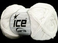 White Cotton Bamboo Yarn Ice #41439 Baby / Sport Weight 50 Gram 153 Yards