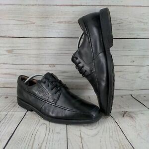 Clarks Flex 24 / 7 Mens Black Leather Lace Up Shoes Size UK 9
