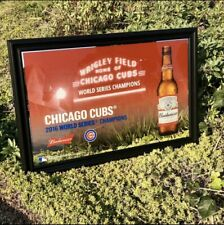 Budweiser Chicago Cubs 2016 World Series Champs Beer Bar Man Cave Mirror Sign