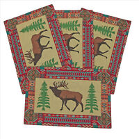 Kinara Buck Jacquard Northwestern Design Placemats Set of 4 13x19 inches