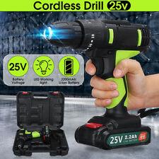 25V 3/8'' LED Li-ion Brushless Cordless Impact Drill Electric Driver Screwdriver