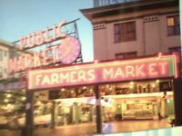 BEAUTIFUL POST CARD PIKE'S FARMERS MARKET SEATTLE WASHINGTON