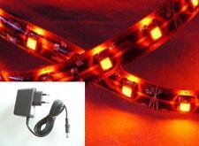 LED Streifen Band orange 1m SET 60x3528SMD weiss IP63 + Netzteil -#4884