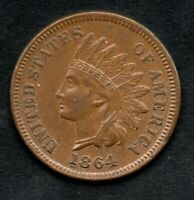1864 L SNOW 1 Indian Head Cent Penny, Gem