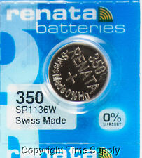 1pc 350 Renata Watch Batteries SR1136SW 350 FREE SHIP 0% MERCURY