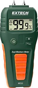 Extech MO55 Combination Pin/Pinless Moisture Meter, Green