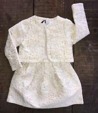 Toddler Girls Ecru/Gold 2 Piece Demi Jacket and Dress  Size 3 years. NWT!
