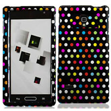 For LG Optimus L9 P769 Rubberized HARD Protector Case Phone Cover Rainbow Dots