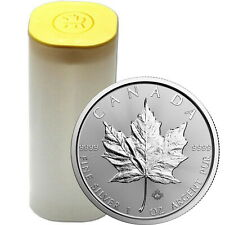 2020 Canada Silver Maple Leaf 1oz BU Coin 25 Piece Lot in Mint Tube