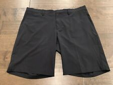 Nike Golf Mens Flat Front Stretch Woven Shorts Size 38 Black 833224-010