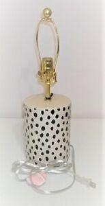 KATE SPADE FLAMINGO DOT CHEETAH BLACK & TAN  LAMP (NO SHADE) NWT
