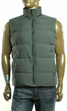 New Mens Michael Kors Charcoal Mel Quilted Duck Down Puffer Vest Jacket XL