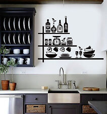 Vinyl Wall Decal Kitchen Bar Kitchenware for Chef Stickers Mural (ig4352)