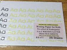 Writing Paper for Kids -  A to Z  WRITING LETTER PRACTICE SHEETS